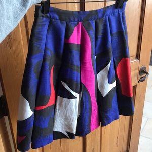 DVF, Diane Von Furstenberg, size 0 pleated skirt